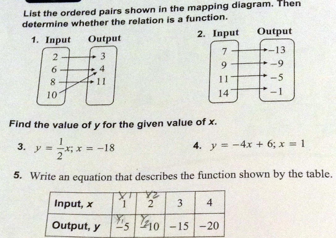 31 Mapping Diagram Math