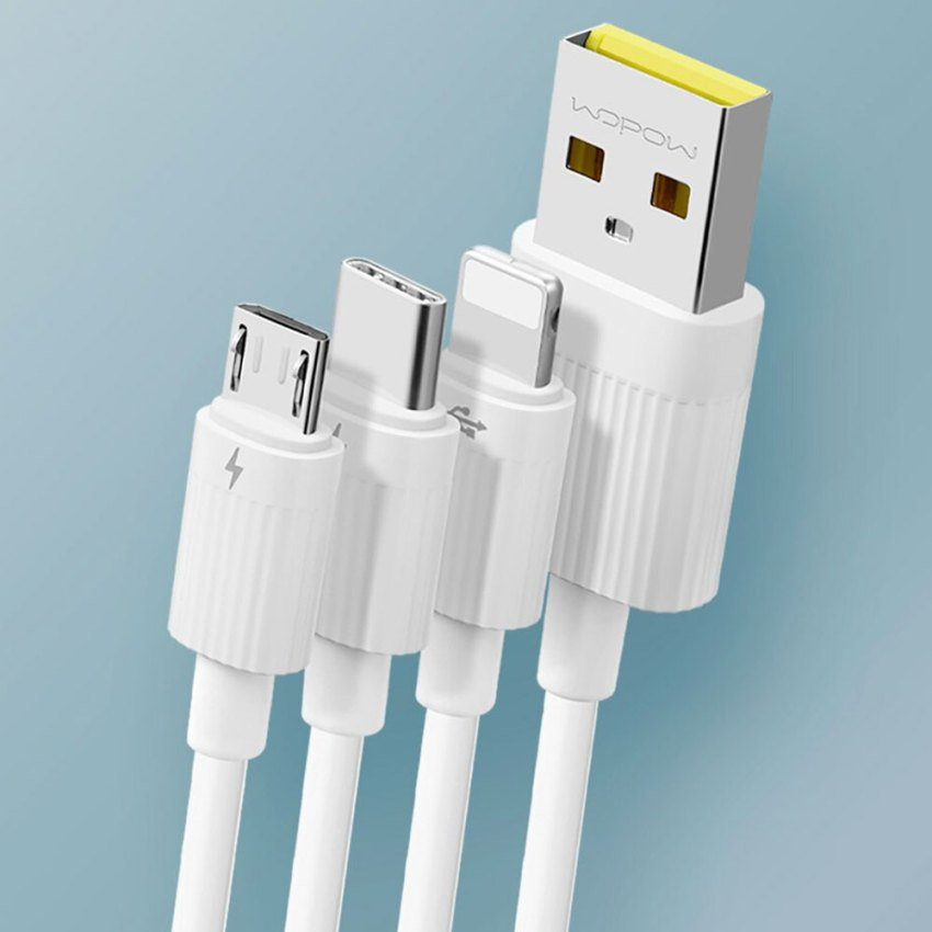 Wopow-3-in-1-(Lightning,-Micro-USB-&-Type-C)-Fast-Charging-3A-Cable-1.2M-(H07)---White.-pic-5