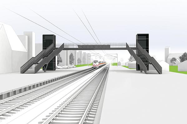 Jernbane strækning ringsted-rødby