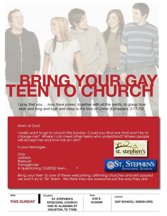 Bring Your Gay Teen to Church | From the Rector