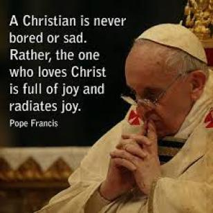RCIA Pope Francis a christian is never born