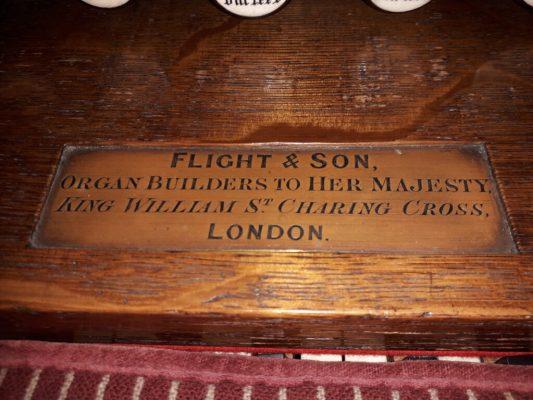 Organ OLOL - Brass Plate
