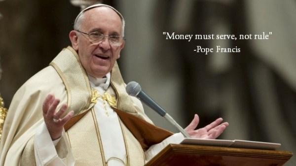 Money must serve