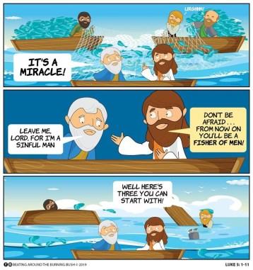 Cartoon Fishers of Men