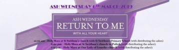 Ash Wednesday Services March 6th 2019 in our Parish