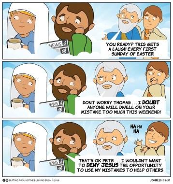 Cartoon Doubting Thomas