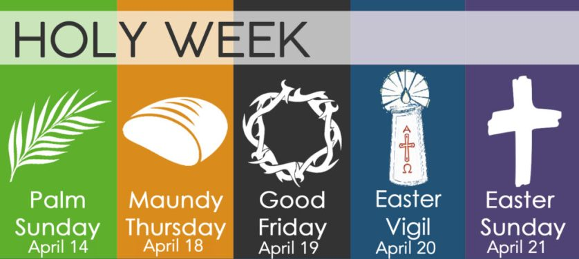 Newsletter: 14th April 2019 - Palm Sunday and Holy Week St Swithuns