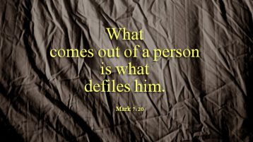 Commentary on Deuteronomy 4:1-2,6-8; James 1:17-18,21-22,27; Mark 7:1-8,14-15,21-23
