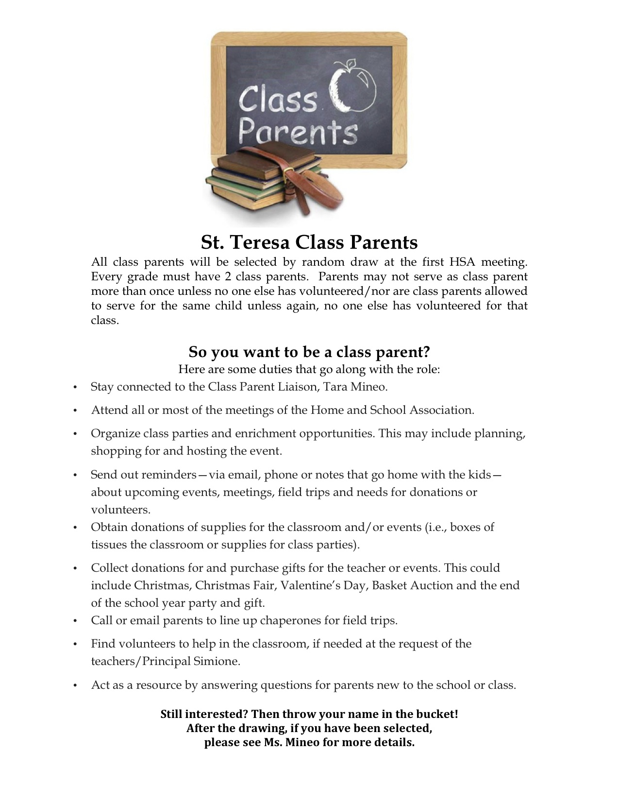 Minutes Of Past Meetings St Teresa Home And School