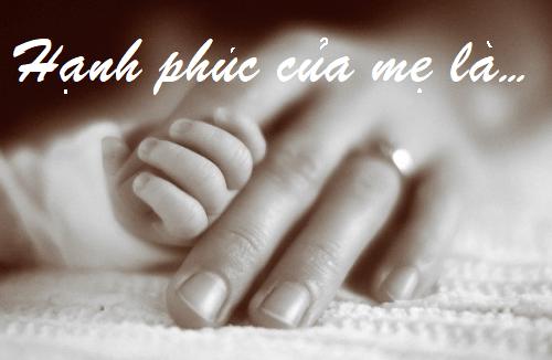 Một đời hạnh phúc của mẹ là…