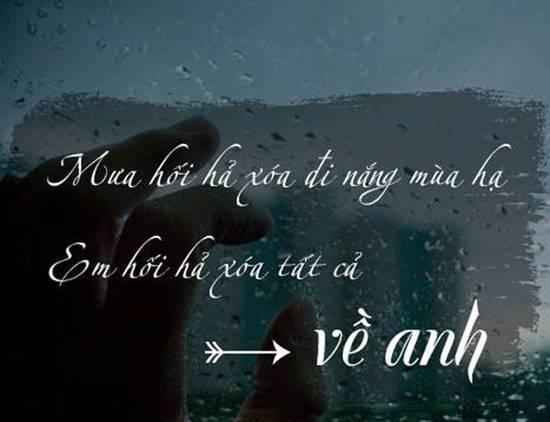 Những status hay về mưa và những nõi nhớ đầy tâm trạng