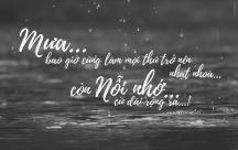 STT tình yêu buồn: Mưa về mang theo bao nỗi nhớ
