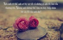 Những Stt hối hận trong anh Xin lỗi vì đã làm em tổn thương