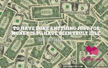 Những status đầy triết lý về tiền bạc và cuộc sống