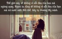 stt khuyên nhủ các cô gái hãy tự thương lấy mình đừng trông đợi người khác