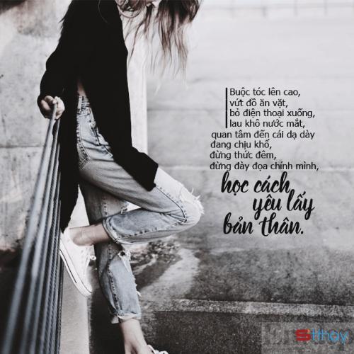 Stt phụ nữ phải biết yêu thương chiều chuộng bản thân mình hơn