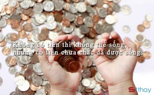 Những stt để đời suy ngẫm về giá trị của tiền bạc