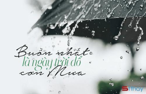 STT mưa là lúc ta được sống thật với cảm xúc của bản thân