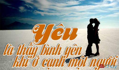 Những Stt ngọt ngào bình yên bên anh là điều em mong muốn nhất trong tình yêu của chúng ta