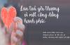 Sống hãy biết yêu thương vì yêu thương là hạnh phúc