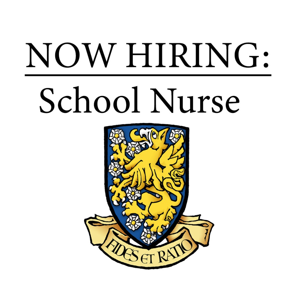 "STCS logo with text ""now hiring school nurse"""
