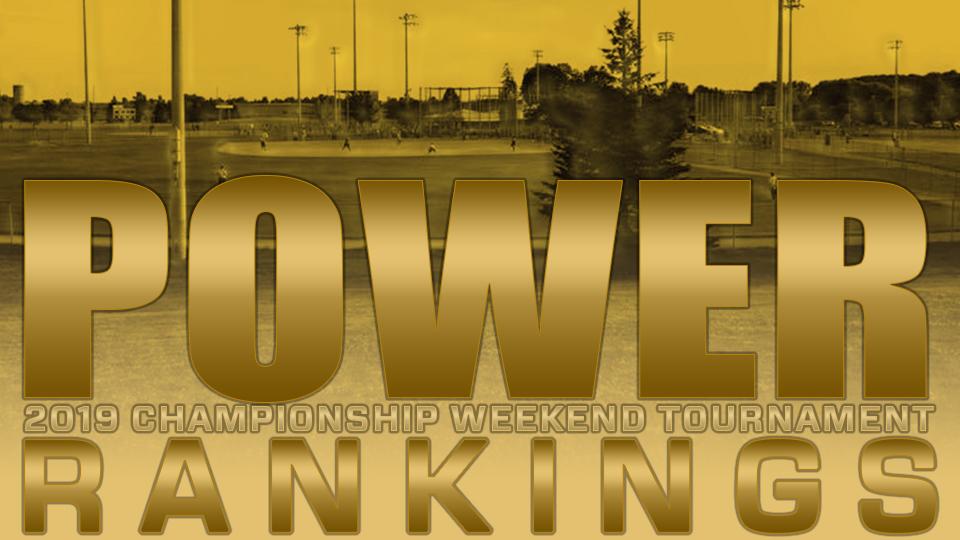 2019 POWER RANKINGS: Championship Weekend   August 23/24/25