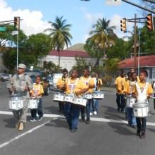 The Addelita Cancryn Junior High School Dynamic Innovations Drumline add oopmph to the race.