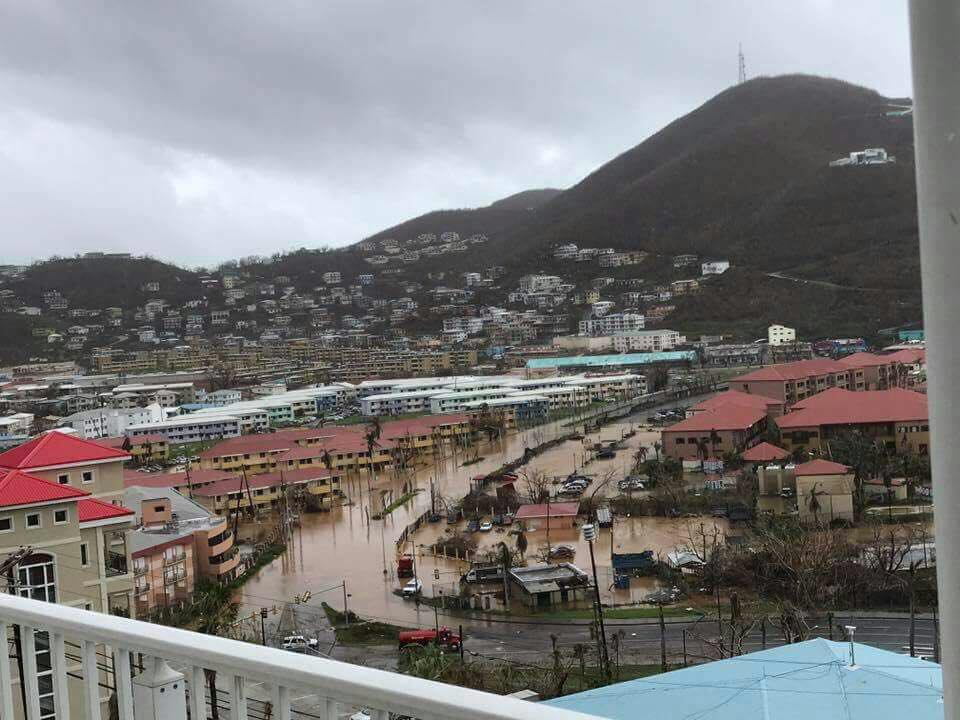 Flooding in Charlotte Amalie after Hurricane Maria. (Facebook photo, posted on many pages, photographer unknown)