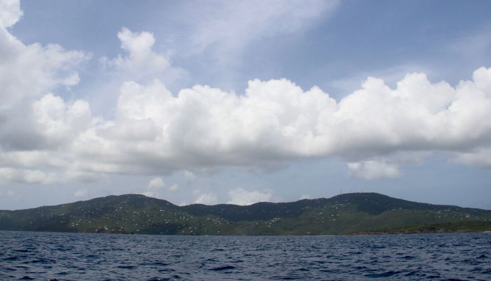 St. Thomas seen from the north side of the island by water. (Kelsey Nowakowski photo)