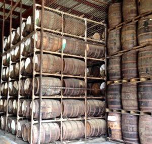 Barrels of rum aging in the Cruzan warehouse represent future revenues for the territory.