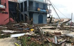 Damage in Cruz Bay, St. John. (David Knight Jr. photo)