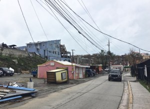 Cruz Bay looks battered Thursday, the day after Hurricane Maria hit.