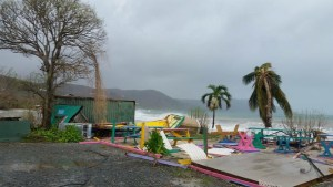 Hurricane Maria blew away this Cane Bay restaurant. (Facebook photo, posted on many pages, photographer unknown)