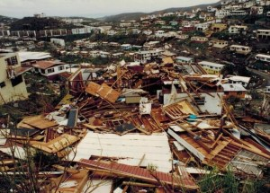 In 1995, Hurricane Marilyn left a trail of devestation in its wake. (V.I. Source file photo)