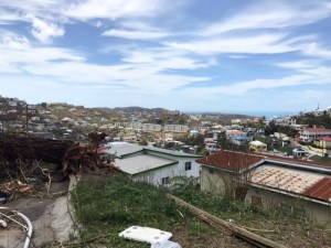 The Anna's Retreat and Tutu High Rise areas are two of the hardest hit on St. Thomas, (James Gardner photo)