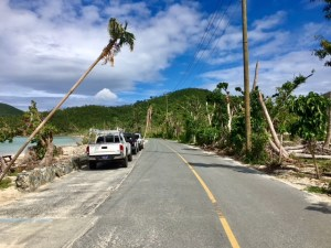Northshore Road, after being cleared in October.