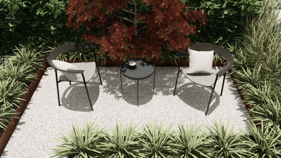 Modern garden design, Baden, Switzerland - Project by STTYK - Visualization 6