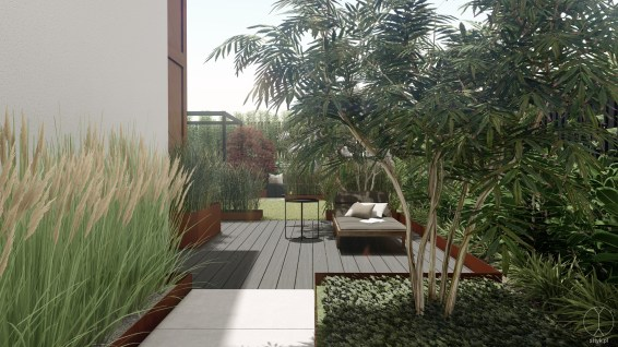 Modern garden design, Baden, Switzerland - Project by STTYK - Visualization 8
