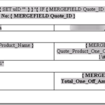 Microsoft Dynamics CRM, Word Templates and Merge Fields for printing a Quote