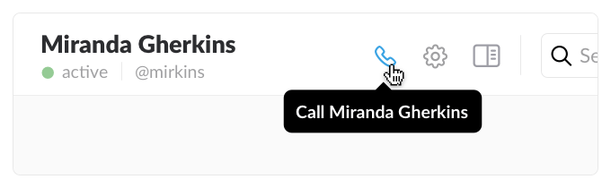 Slack call feature