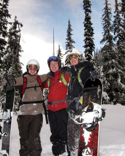 K3 Cat-skiing with Andrew, Colin and Stuart