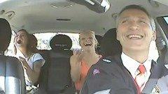 Norwegian PM in taxi