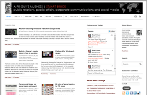 Stuart Bruce | A PR Guy's Musings screen shot