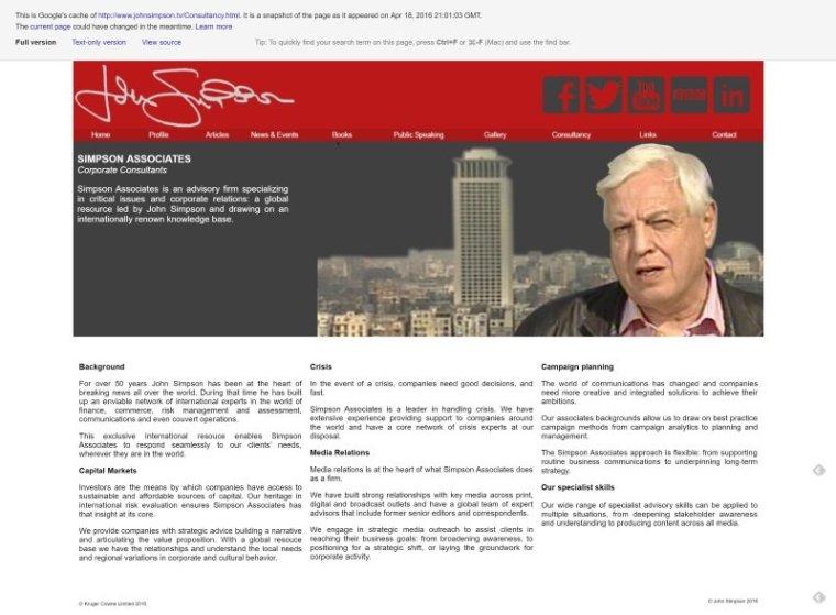 Simpson Associates corporate consultancy website cache