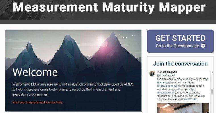 AMEC Measurement Maturity Mapper screen shot