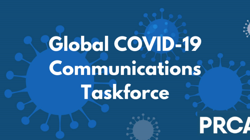 PRCA Global COVID-19 Taskforce graphic