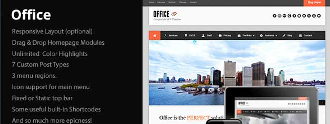 Office Responsive WordPress Business / Corporate Theme