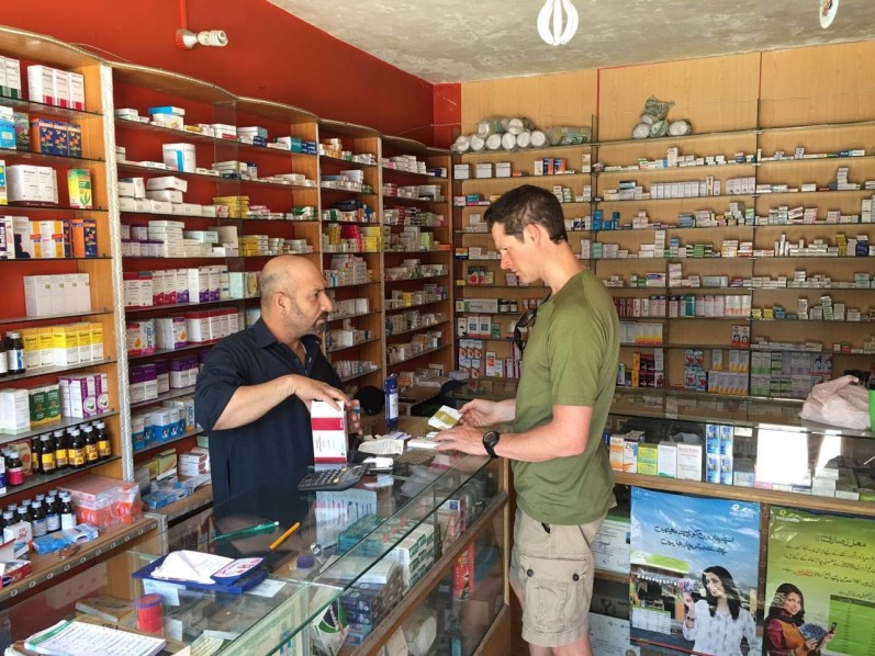 Garrett Madison purchasing medical supplies.