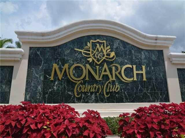 entrance to the Monarch Country Club