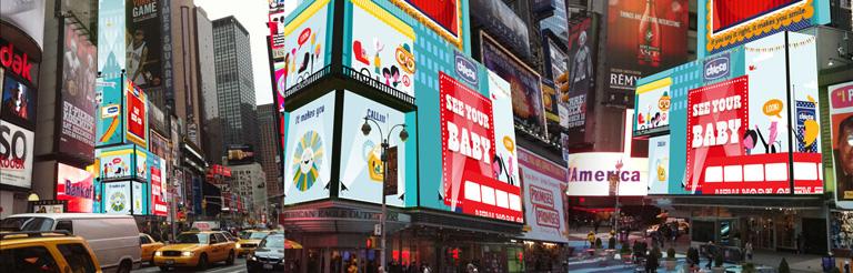 Chicco Times Square Billboard